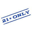 21 Plus Only Watermark Stamp vector image vector image