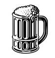 a black and white glass beer vector image vector image