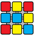 Abstract - colored rounded squares vector image
