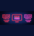 adult adult night sign neon sign logo symbol vector image