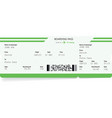 airplane ticket blank green boarding pass vector image vector image