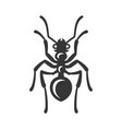 ant icon on white background vector image vector image