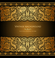antique style floral invitation vector image
