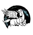 Beautiful magic unicorn vector image