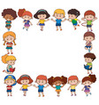 border template with happy children vector image vector image