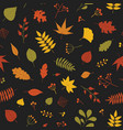 botanical seamless pattern with autumn tree leaves vector image vector image