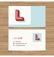 business card letter L vector image