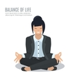 Businesswoman meditate vector image vector image