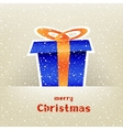 Christmas gift card with snow around vector image vector image