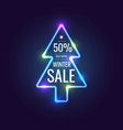 christmas sale banner original poster for vector image