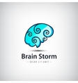 creative mind logo brain vector image vector image