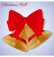 Cristmas bells with red bow Simple cartoon style vector image vector image
