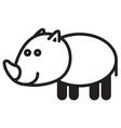 Cute animal rhinoceros - vector image vector image