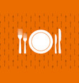 cutlery background seamless kitchen pattern vector image