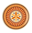 Decorative plate with ornament in ethnic style vector image vector image