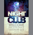 Disco ball background disco night club poster