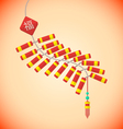 flat style chinese new year firecrackers vector image vector image