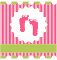 footprint of girl vector image vector image