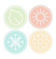four nature seasons circles vector image vector image