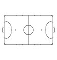 futsal court or field sport background line art vector image
