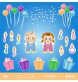 Gala set for birthday party for girl and boy A vector image vector image