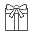 gift icon on white background a vector image vector image