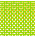 hatching egg baby chick pattern on green vector image vector image
