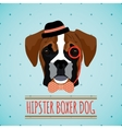 Hipster dog portrait vector image vector image