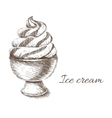 Ice cream hand drawn vector image vector image