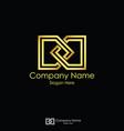 infinity initial letter dd letter d logo design vector image