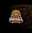 lion head mascot sport logo design vector image vector image