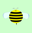 Little Cute Cartoon Bee for Kids vector image vector image