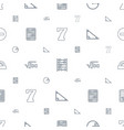 math icons pattern seamless white background vector image vector image