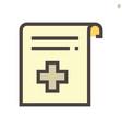 medical certificate icon design 48x48 pixel vector image