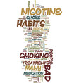 medical treatments for bad habits text background vector image vector image