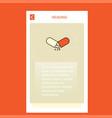 medicine mobile vertical banner design design vector image vector image