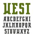 Narrow serif font in retro style vector image vector image