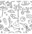 pattern the symbols of beach recreation vector image
