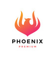 phoenix fire frame logo icon vector image vector image