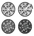 pizza set italy vector image