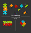 puzzle elements for your infographics vector image vector image