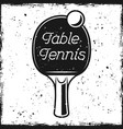racket and text table tennis vector image vector image