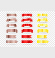 red and gold banners elements clipart isolated on vector image