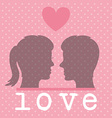 Romantic love design vector image vector image