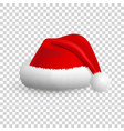 santa claus hat isolated on transparent background vector image
