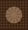 seamless month pattern and circles mandala vector image vector image