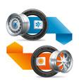 seasonal tire change on car wheels vector image