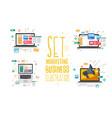 set marketing business vector image vector image