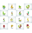 set of abstract unusual web letter logo vector image vector image