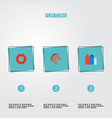 set of america icons flat style symbols with new vector image